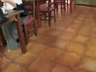 Arab Outside And Student Hungry Woman Gets Food And Fuck