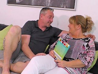 Old Housewife Has An Affair With Younger Nextdoor Dude