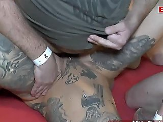 Deutsche Tattoo Creampie Sexparty With Cum Swallow Party