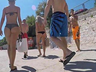 Amazing Two Crotian Asses In Bikini Free Porn B8 Xhamster
