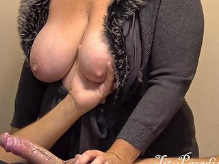 Great Handjob By Busty Milf With Lotion And Cumshot In 4k