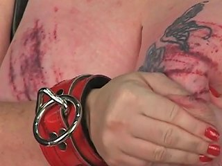 Poor Bdsm Slave Woman Gets Her Giant Tits Tortured With
