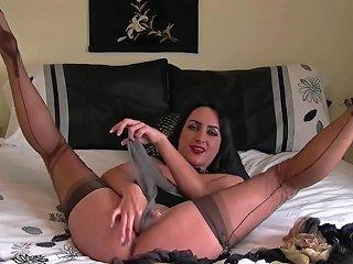 Stocking Stuffing And Hitachi Orgasm Hd Porn E4 Xhamster