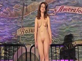 Skinny Opera Singer Takes Off Her Clothes And Sings Naked