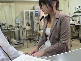Perverted Dildo Fuck For A Jap Hottie During Gyno Exam