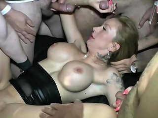 German Groupsex Swinger Orgy With Creampie And Cum Swallow
