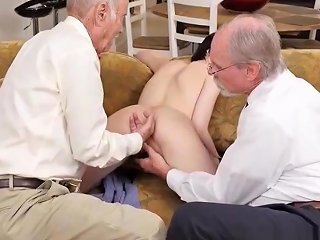 Escort Teen Analized In Threeway With Oldguys