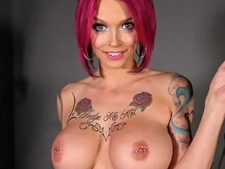 Annabelle Peaks Horny Pink Haired Big Boobs Milf Wants Your Cock Inside Her
