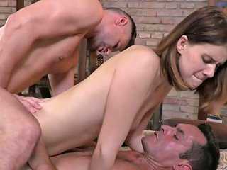 Skinny Brunette Gets Her Ass And Pussy Fucked Porn Videos