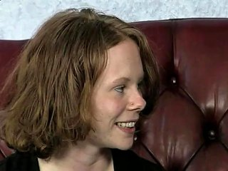 German Chubby Redhead Jasmin Gets Her Ass Fucked On A Couch