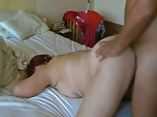 Nice Housewife With Quite Saggy Tits Was Bent Over And Poked Doggy
