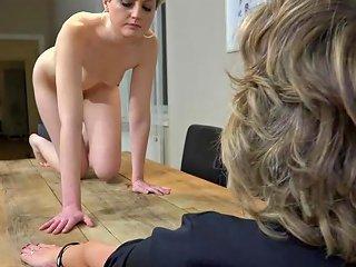 Oldnanny Old Mom And Horny Teen Is Masturbating Pussy