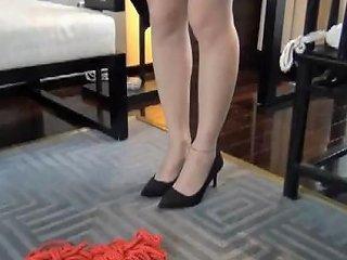 Asian Girl Helpless Bondage