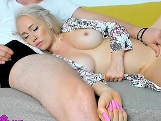 Mom Amp Step Son Share A Couch Taboo Amp Cum Swallow