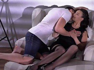 Sophia Laure Sexy French Milf In Black Stockings