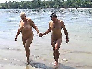 Stepson Fucks Mom On Public Beach