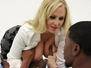 Julia Ann Is Having Steamy Sex With A Black Man Instead Of Doing Her Job