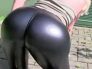 German Whore Walks Around With Cum On Her Pants