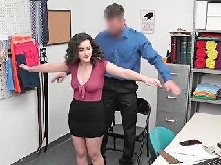 Busty Brunette Fucked By Officer For Stealing Bracelet
