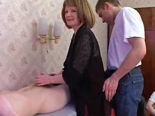 Triple Penetration Of A Mature Chick Getting Slammed By Five Guys