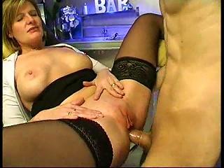 Sexy MILF Bartender Has Anal Sex