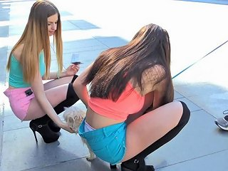 Lana And Stella Adore Teasing Bypassers With Their Bodies Any Porn