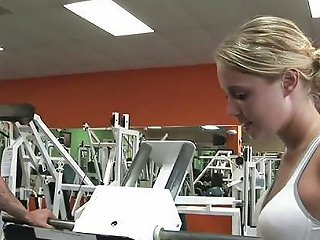 Hot Gym Girl Sucks The Trainer 039 S Pole After A