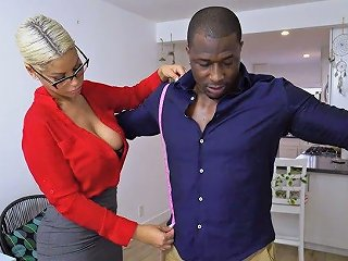 Nerdy Milf With Sexy Boobies Bridgette B Is Happy To Ride Strong Bbc