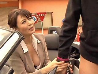 Smar Lokking Japanese Milf Enjoys Rear Pounding Outdoors