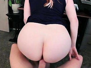 Redhead Pornstar Femdom With Cumshot
