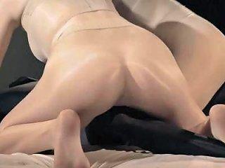 Strapless Dildo Threesome Lesbians Encasement Sex