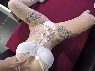 German Big Tits Tattoo Babe In White Dress Homemade Cum Swallow Txxx Com