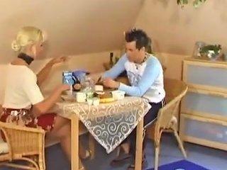 Skinny Mature German Blonde Slut Whore Seduces Young Man