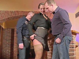 German Big Tit Milf Seduce Fuck Anal In Big Dick Threesome