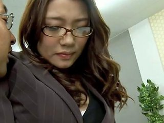 Sexy Office Chick Bending Over And Fucked Hardcore By