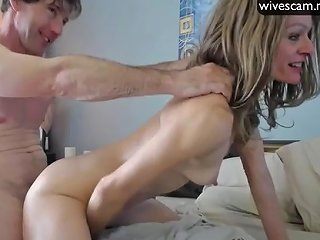 MILF Fucked By Husbands Friend On Cam Amazing