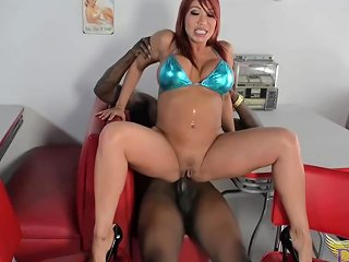 Seductive Asian Woman With Big Tits Ava Devine Got Down And Dirty With A Black Guy