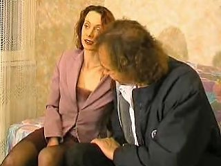 Mature Hairy Wife Gets Fucked By Old Guy At The Farm