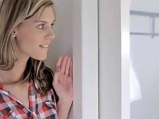 Cindy Behind The Bathroom Door