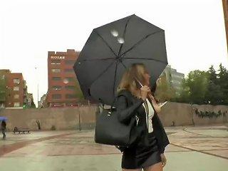 Redhead Spanish Slut Bangs In Public