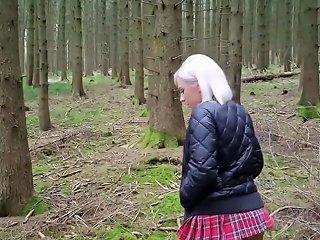 German Tramp Taken In The Woods For A Hardcore Fuck