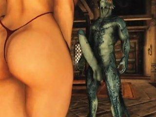 3d Busty Girl Pulverized By Alien