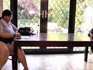 Thick Secretary Gets A Good Length Inside Her Free Porn 4e