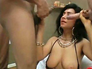 French Amateur Bukkake With Cumshot Porn Video 661