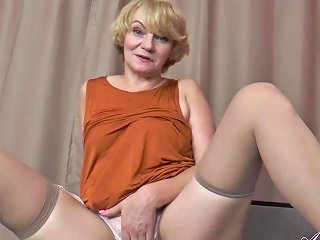 56 Year Old Auntie Aliona Sucks Your Cock And Jerks You Off