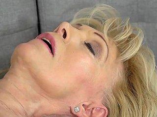 Tongued Granny Fucked
