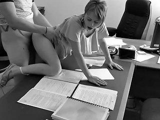 Boss Fucks My Wife At The Office On Hidden Cam This Secretary Is Real Slut