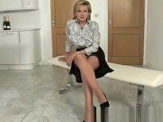 Bodacious Blonde MILF In Sexy Black Lingerie Takes Herself To Orgasm Txxx Com