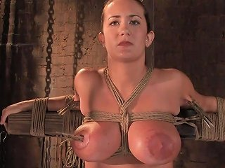 Sub Girl With Huge Natural Tits Learns About Clothespin Torture