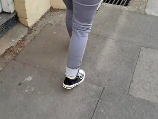 Alice Very Public Wetting Outside Closed Public Toilets Pee Accident